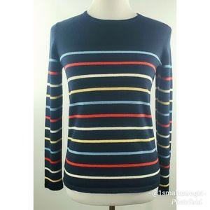 Liz Claiborne merino wool blend stripped sweater S